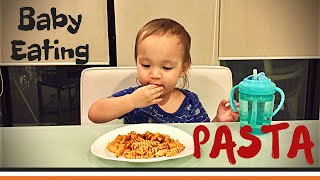 Baby Eating Pasta | Mukbang | Kem's World