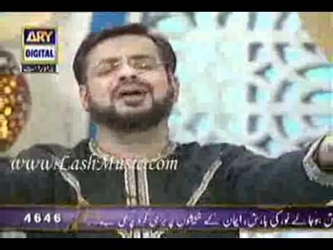 Aamir Liaquat Reciting Mujhay Dar Pay Phir Bulana Madani Madenay Walay In Aalim Aur Aalam.flv video