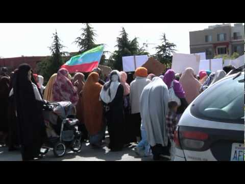 bilal tube - Ethiopian Muslims  protest in Seattle May 18, 2012 Part II