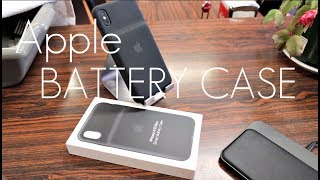 Apple  OFFICIAL Smart Battery Case - iPhone XS / MAX - Hands on Review...MINES BROKEN!