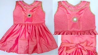 Princess cut Baby Frock cutting and stitching | Baby dress cutting and stitchng