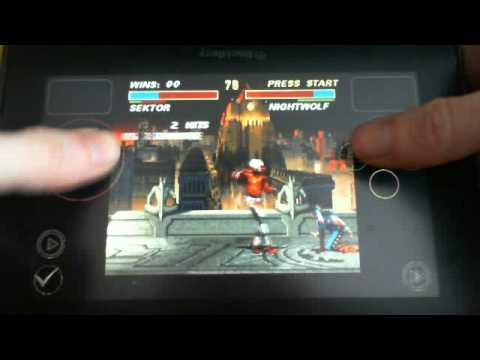 BB Playbook playing SNES emulator mortal kombat 3 snes9x-pb