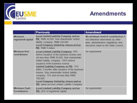 EU SME Centre Webinar: How To Operate Lawfully In China - A Legal Update For EU SMEs