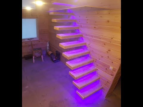 Самая простая консольная лестница для дачи своими руками ч-3. a cantilevered staircase