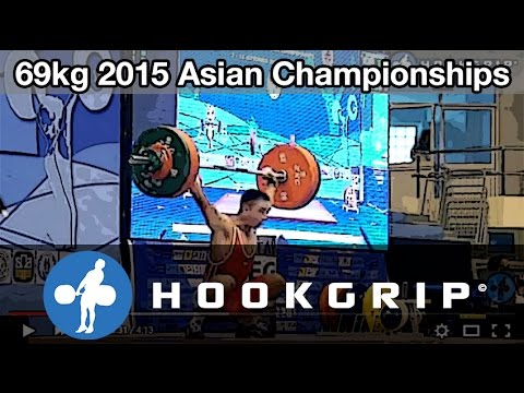 Lin Qingfeng & Kim Myong Hyok (69) - Snatch and C&J @ 2015 Asian Championships
