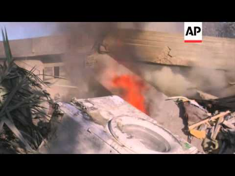 Aftermath of airstrike which killed wife and child of Hamas commander; house destroyed in Rafah, inj