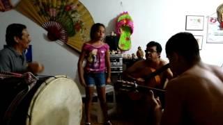 Fredy Pérez, Junior, Jairo Ojeda y Maria del Mar Ensayando