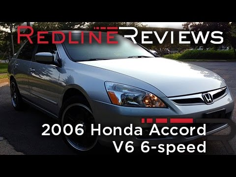 2006 Honda Accord V6 6-speed Review. Walkaround. Exhaust & Test Drive