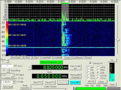 Pirate Radio, Wolverine Radio, 6925 kHz USB, February 15, 2011, 0148 UTC