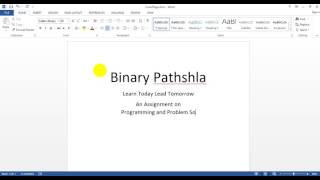 How to make a Cover Page(Front Page) for assignment in MS Word in Bangla part-01