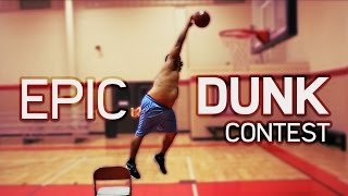 Fat Guy Falls Off Chair! | EPIC DUNK CONTEST