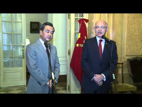 23 de ABR. Conferencia de prensa entre Hector Timerman y Wang Yi