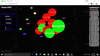 MeMezBots Update   Play.agario0.com Hacked    100% Working HACK   Coded in Java ☕