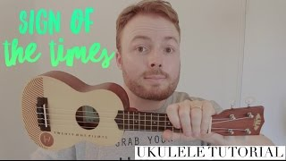 Download Lagu SIGN OF THE TIMES - HARRY STYLES (EASY UKULELE TUTORIAL!) Gratis STAFABAND