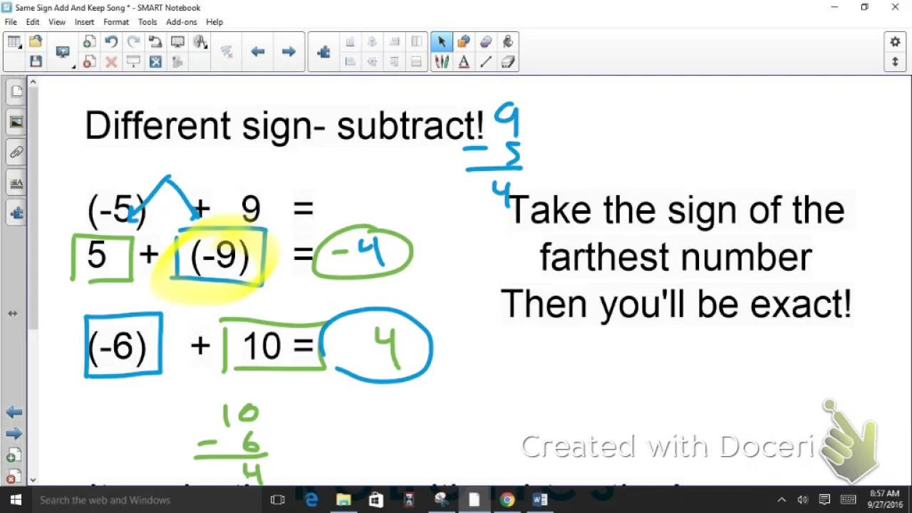 Adding subtracting multiplying and dividing integers worksheet
