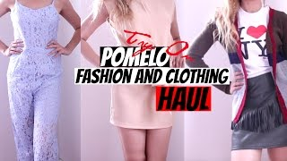 HUGE CLOTHING FASHION TRY ON HAUL FOR SPRING SUMMER 2016 (POMELO) PART 1 | Farah Asif