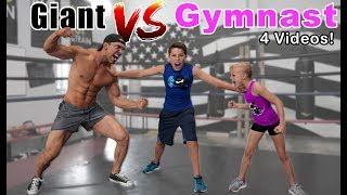 Gymnast vs Giant! Who is Stronger? Compilation