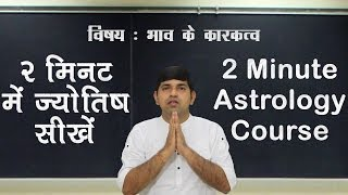 Signification of Houses (भाव कारकत्‍व) 2 Minute Astrology Tutorial - VII