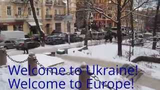 Welcome to UKRAINE! Welcome to Kyiv, near Golden Gates, December 2013
