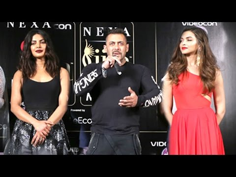 Salman Khan Making FUN Of Deepika Padukone & Priyanka Chopra At IIFA Awards 2016 Conference