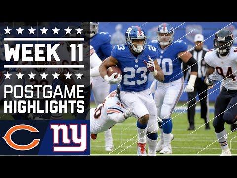 Bears Vs Giants Nfl Week 11 Game Highlights
