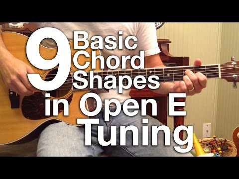 Basic Chord Shapes in Open E Tuning