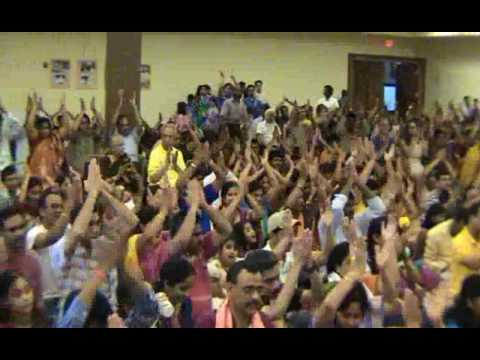 Datta Devotees Chanting Raksha Mantra With Sri Swamiji In Boston Usa video