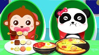 "Baby Panda Space Bar Kitchen"" Play The Robot Cooking Tools Fun Kitchen Gameplay For Children"