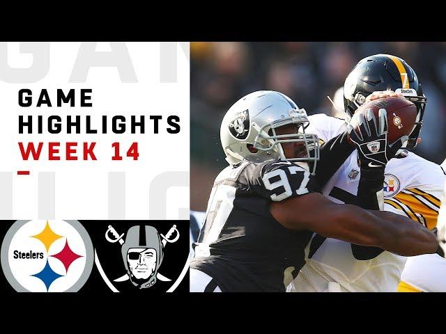 Steelers vs. Raiders Week 14 Highlights  NFL 2018