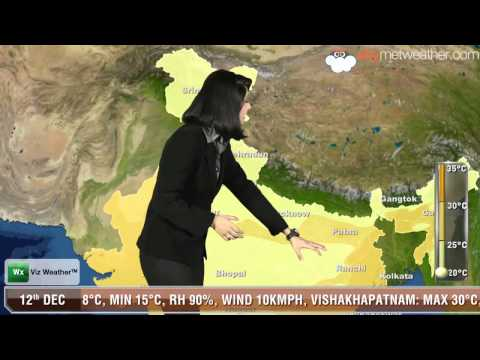 12/12/13 - Skymet Weather Report for India