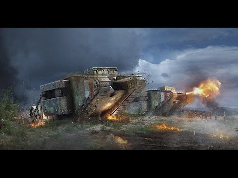 World of tanks blitz LES JUMEAUX EN (Mk I* Heavy Tank) Tiers 1