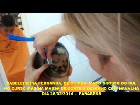DESENHO COM NAVALHA - CABELEIREIRA FERNANDA DE MATO GROSSO DO SUL