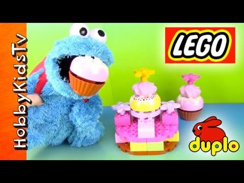 LEGO Cake. Cupcakes with Cookie Monster Eating [Duplo] [Double Layer Cake] (6785)