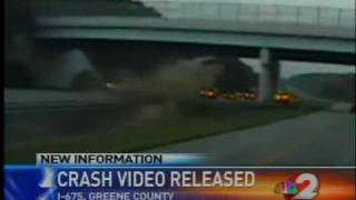 Insane airborne car crash into overpass (8/23/2010)