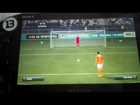 France vs Netherlands FIFA 15 Ps Vita penalty shootout