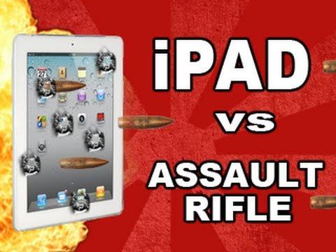 No, el nuevo iPad no es resistente a los disparos de un rifle de asalto