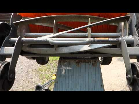How to Sharpen a Fiskars Reel Mower and Adjust Blades.