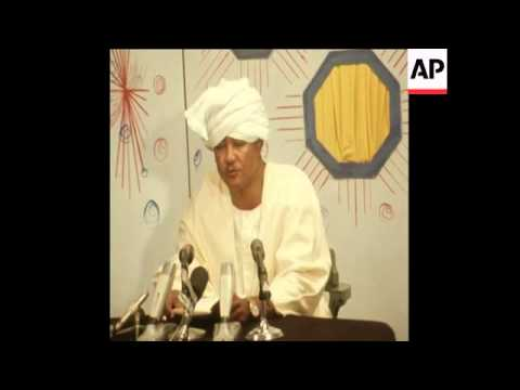 SYND 8-3-73 PRESIDENT NIMEIRY OF SUDAN SPEAKS ON RECENT EMBASSY KILLINGS
