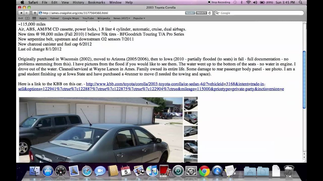 Craigslist Ames Iowa Ford Chevy Dodge And Toyota Used Cars And Trucks By Owner Youtube