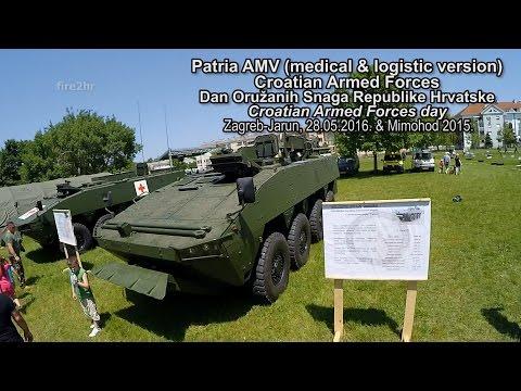 Patria AMV (medical & logistic version)(DanOSRH, Zagreb-Jarun 28.05.2016.)