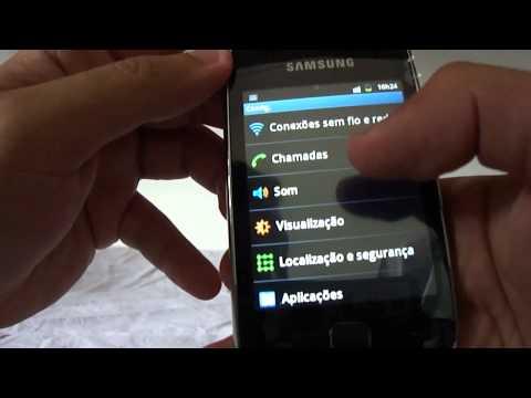 Galaxy Y - GT-S5360B - Review - Parte 5 - Como virar a tela e a internet 3g no Android 2.3