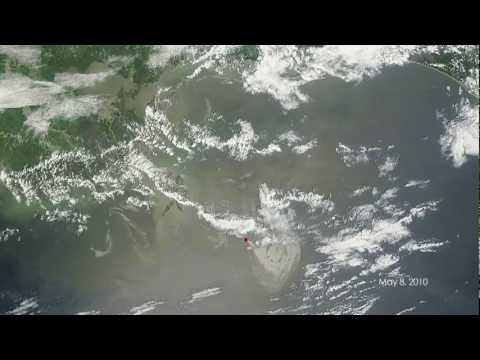 NASA Shows BP Gulf Oil Spill Satellite Views - Time Lapse Video