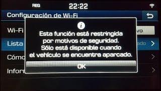 Forzar ParkingMode en navegador de Hyundai Tucson 2016