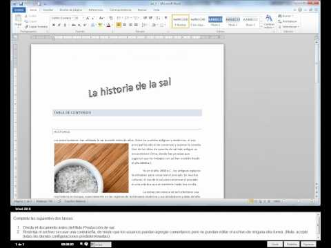 EJEMPLO DE EXAMEN DE CERTIFICACIÓN DE WORD, EXCEL, POWER POINT