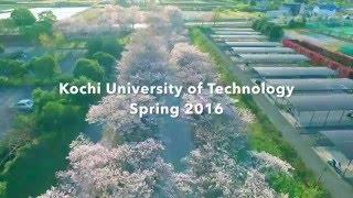 KUT spring2016 / 高知工科大学の桜[空撮]