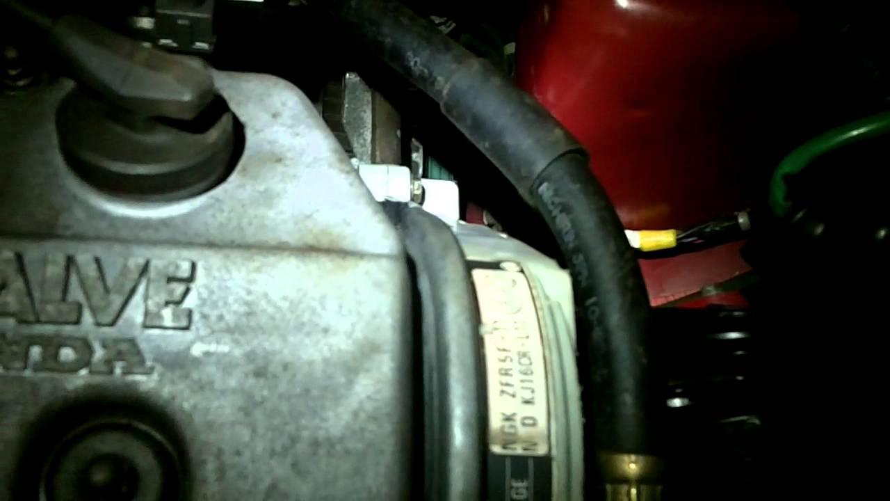 1995 honda civic timing belt noise youtube for Honda civic timing belt replacement