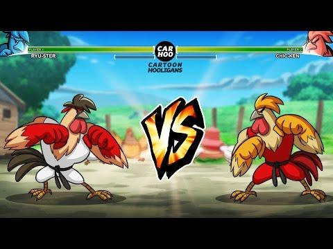 Street Cock Fighter - RYU vs KEN [ Street Fighters 5 Parody ]