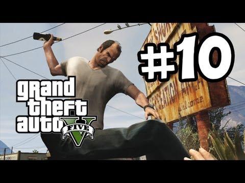 Grand Theft Auto 5 Part 10 Walkthrough Gameplay - Trevor - GTA V Lets Play Playthrough