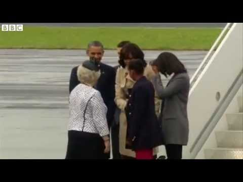 BBC News   G8  Obamas arrive in Northern Ireland mp4