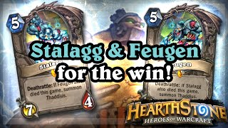 Stalagg & Feugen for the Win! [Hearthstone Ranked Gameplay]